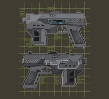 Lawgiver MKII Double Schematic Vector by strangelysaucy