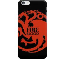 Fire and Blood/ Game of thrones/ Targaryen Sigil iPhone Case/Skin