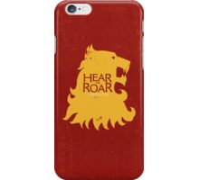 Hear me Roar/Lannister sigil iPhone Case/Skin