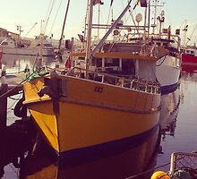Hobart yellow boat by visualimagery