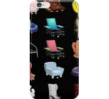 Glitch Furniture Armchairs Collection iPhone Case/Skin