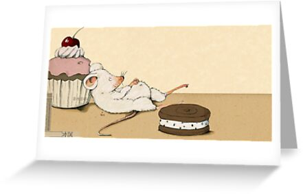 Mouse with Muffin by Judith Loske