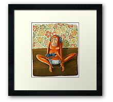 Monkey play Framed Print