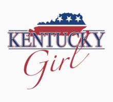 Kentucky Girl - Red, White & Blue Graphic by SandpiperDesign