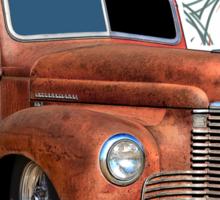 Pinstripe Rust Truck 2 Sticker
