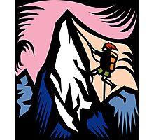 Mountain Climbing Abstract Photographic Print