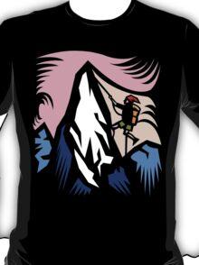 Mountain Climbing Abstract T-Shirt