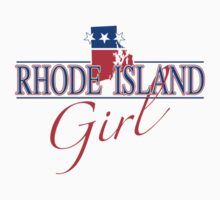 Rhode Island Girl - Red, White & Blue Graphic by SandpiperDesign