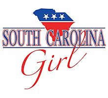 South Carolina Girl - Red, White & Blue Graphic Photographic Print