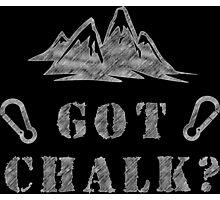 Rock Climbing Got Chalk Photographic Print