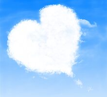 Heart shaped cloud by AnnArtshock