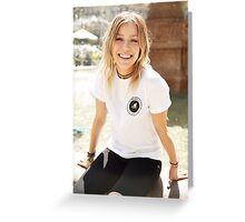 Tonight Alive Jenna Mcdougall Greeting Card