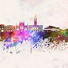 Kingston Upon Hull skyline in watercolor background by paulrommer
