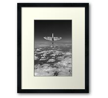 A cut above, black and white version Framed Print