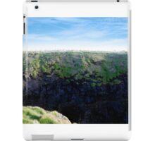 high green cliffs iPad Case/Skin