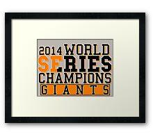 SF Giants  Framed Print