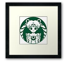 Moonbucks Framed Print