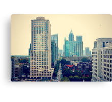 Hazy Lazy Sunday in Atlanta, Ga. Canvas Print