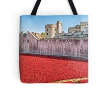 Poppies At The Tower Tote Bag