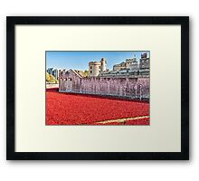 Poppies At The Tower Framed Print