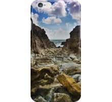 Stoney Cove Below Lydstep Head,Pembrokeshire iPhone Case/Skin