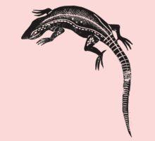 Common Lizard Lino Print Kids Clothes