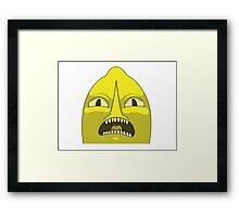 Lemon grab UNACCEPTABLE  Framed Print
