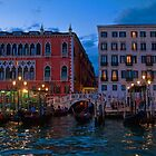 Italy. Venice. Palazzos at night. by vadim19
