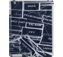 Abstract lines of letters iPad Case/Skin