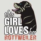 This Girl Loves Her Rottweiler by 2E1K