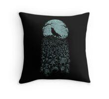 Midnight Hunter Throw Pillow
