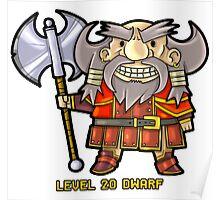 Level 20 Dwarf Poster