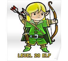 Level 20 Elf Poster