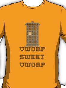 TARDIS - Doctor Who Cross Stitch - Vworp Sweet Vworp T-Shirt