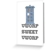 TARDIS - Doctor Who Cross Stitch - Vworp Sweet Vworp Greeting Card