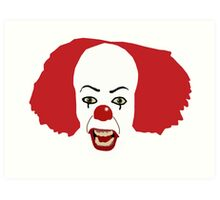 Pennywise the Clown from Stephen King's IT Art Print