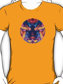 Abstract Surreal Chaos theory in Modern Blue / Orange T-Shirt