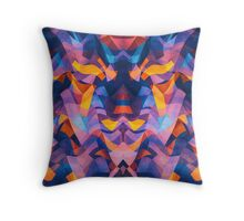 Abstract Surreal Chaos theory in Modern Blue / Orange Throw Pillow