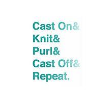 Knitting Addict - Yarn Hoarders & Needlecrafters Unite! Photographic Print