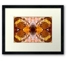 Exploding Ideas Abstract Pattern Artwork Framed Print