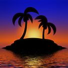 Palm Tree Sunset by Gravityx9