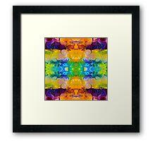 Rainbow Revolution Abstract Pattern Artwork Framed Print