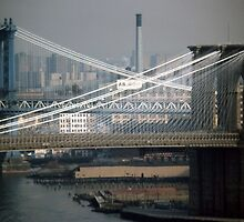 Manhattan & Brooklyn Bridge's > by John Schneider