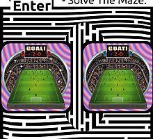 The Football stadium maze by Yanito Freminoshi by Elenapinker