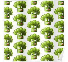 Funny Broccoli Pattern Poster