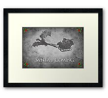 Game of Thrones Christmas Card: Santa is Coming (with Dragons) Framed Print