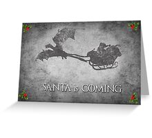 Game of Thrones Christmas Card: Santa is Coming (with Dragons) Greeting Card