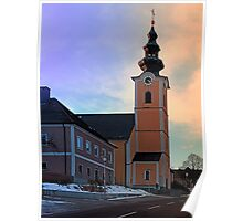 The village church of Traberg I | architectural photography Poster