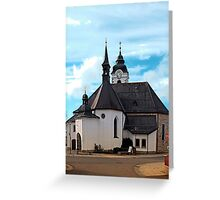 The village church of Vorderweissenbach I   architectural photography Greeting Card