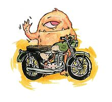 M is for Motorbike Monster! by owensherwood